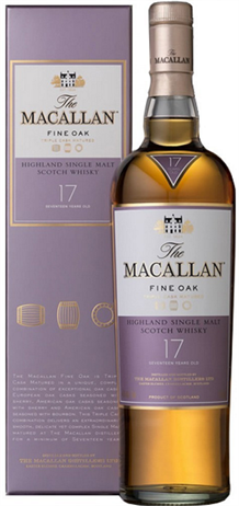 The Macallan Fine Oak Scotch Single Malt 17 Year